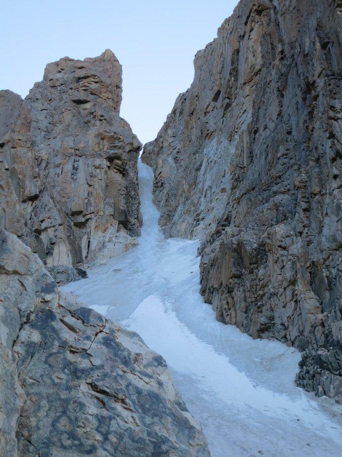 Baychechekey Kuzey-Batı buz kulvarının hemen altından görünümü (Foto: Anıl Şarkoğlu)